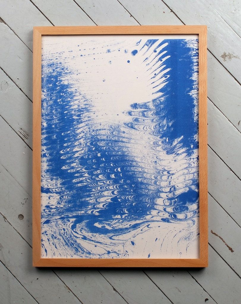 Blue marbled paper duplicator print. kr150.00, via Etsy. by Sans Vase