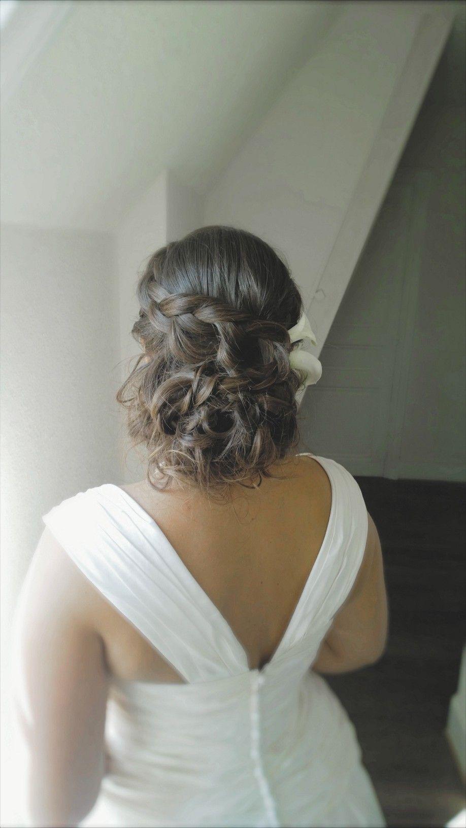 Karine/ bride/ chignon bas/ tresses/ boucles   Coiffure ...