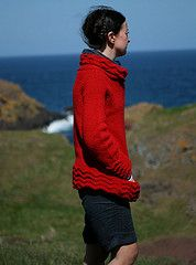 Raglan smock with inset pockets, cowl neck, and raglan shaping. http://www.ravelry.com/patterns/library/warriston