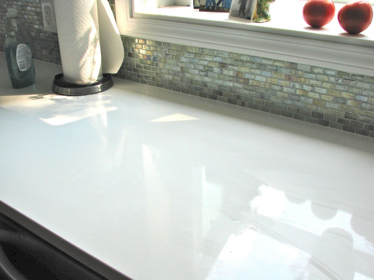 White Recycled Gl Countertops Engineering Stone 0 00 Quartz
