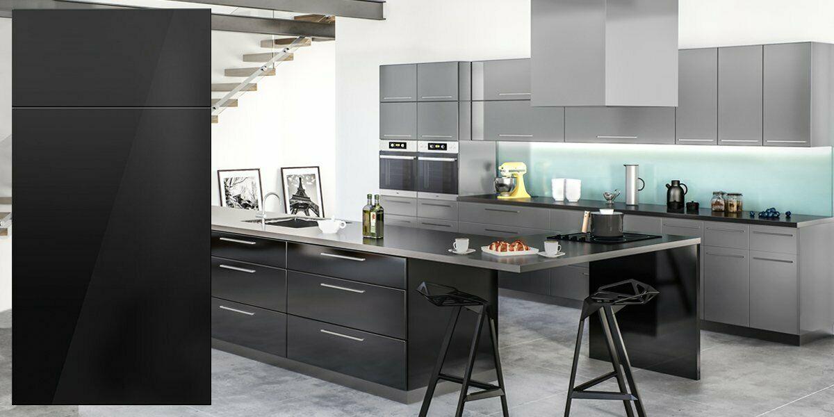 All Wood Rta 10x10 Contemporary Milano Ebony Gloss Kitchen Cabinets Modern Black Assembled Kitchen Cabinets Kitchen Cabinets For Sale Gloss Kitchen Cabinets
