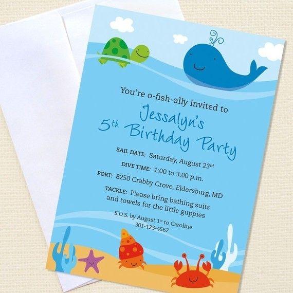 Under the sea birthday party custom birthday invitations set of under the sea birthday party custom birthday invitations set of 10 printable file filmwisefo Choice Image