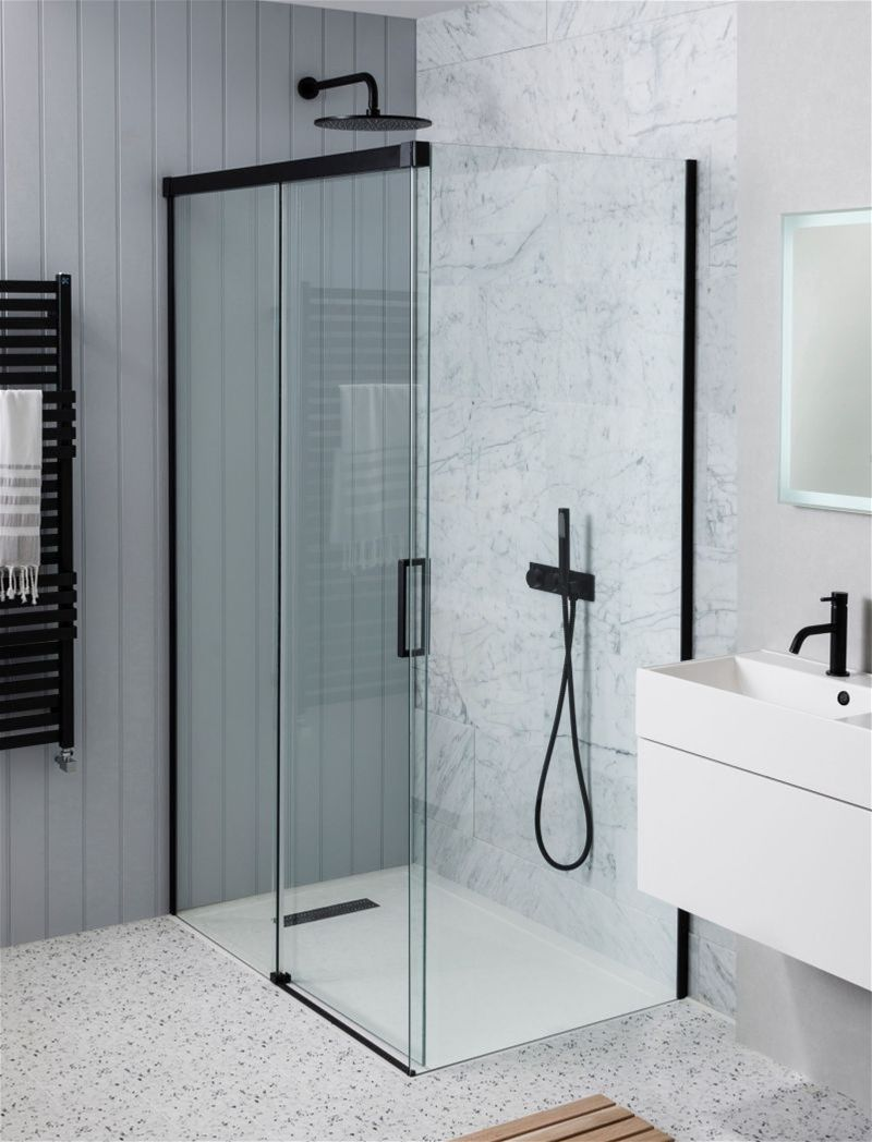 Crosswater Showering Design 1200mm Soft Close Slider In 2020 Shower Doors Shower Cubicles Sliding Shower Door