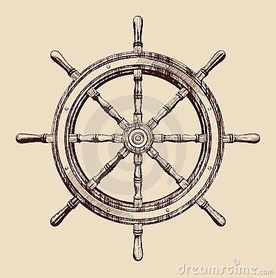 Ship Wheel Be The One To Guide Me Ship Wheel Tattoo Wheel Tattoo Sketch Tattoo Design