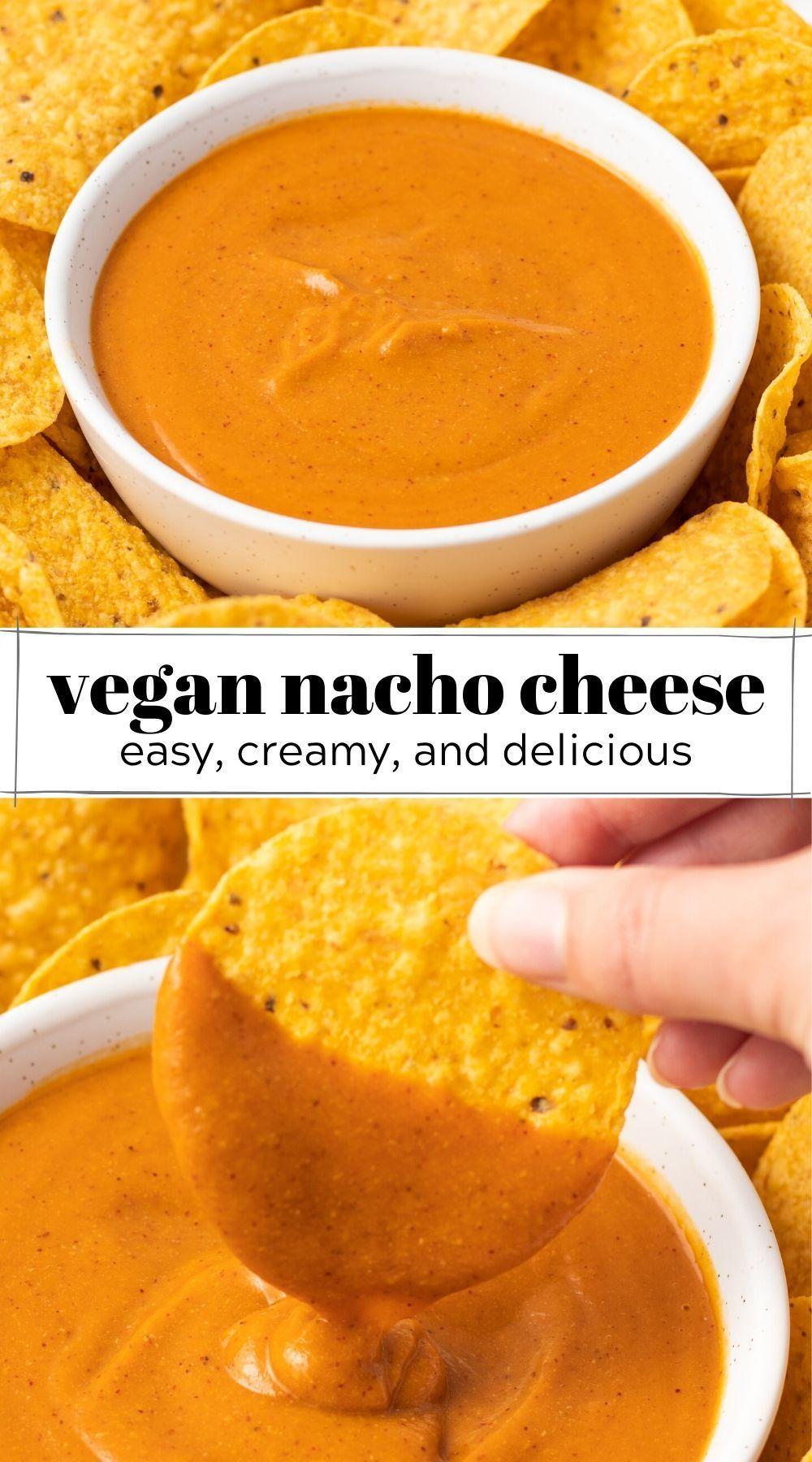 Guilt Free Vegan Nacho Cheese Recipe In 2020 Oil Free Vegan Recipes Vegan Nachos Cheese Recipes