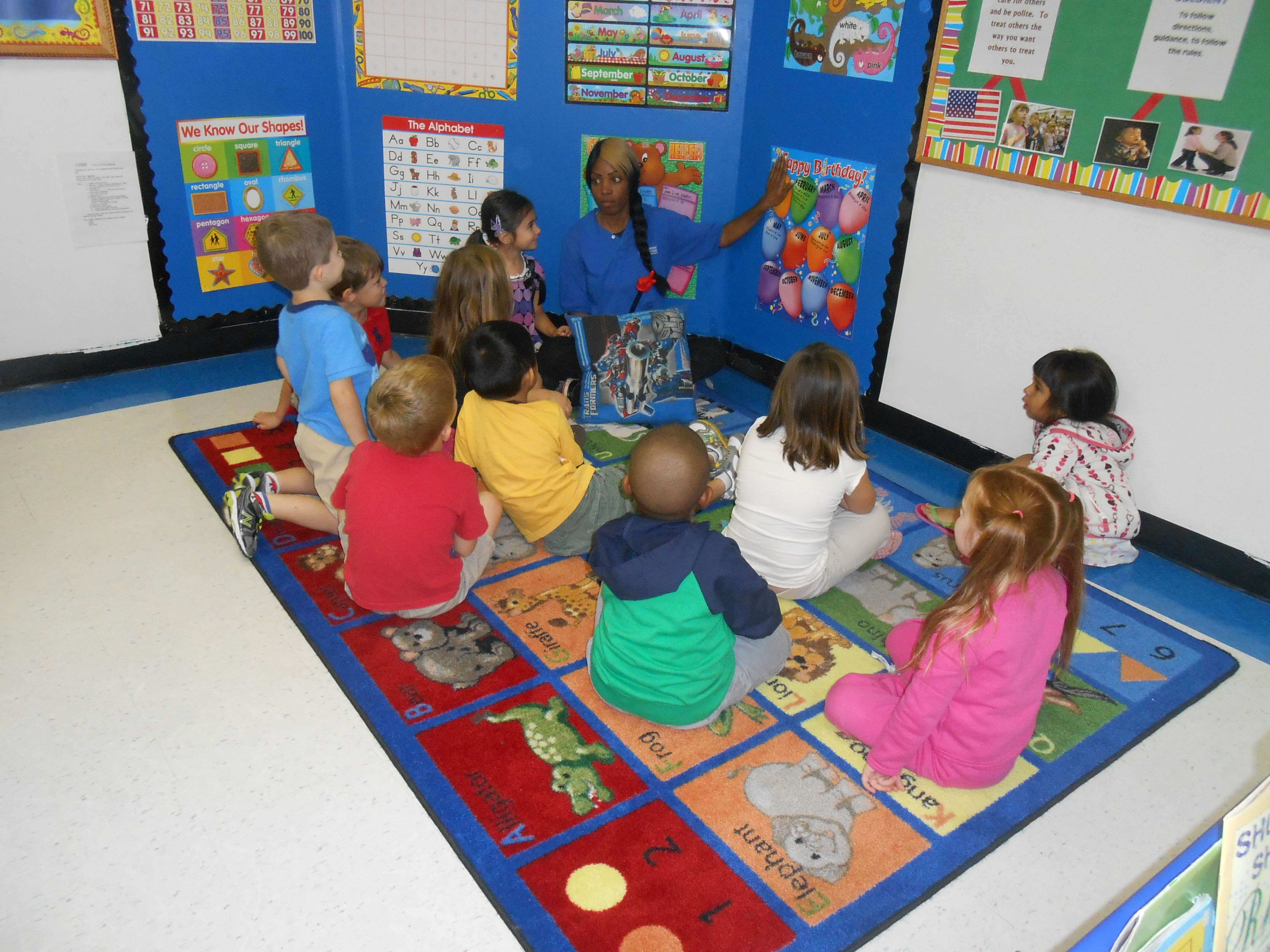 Circle Time In Our Pre K Class