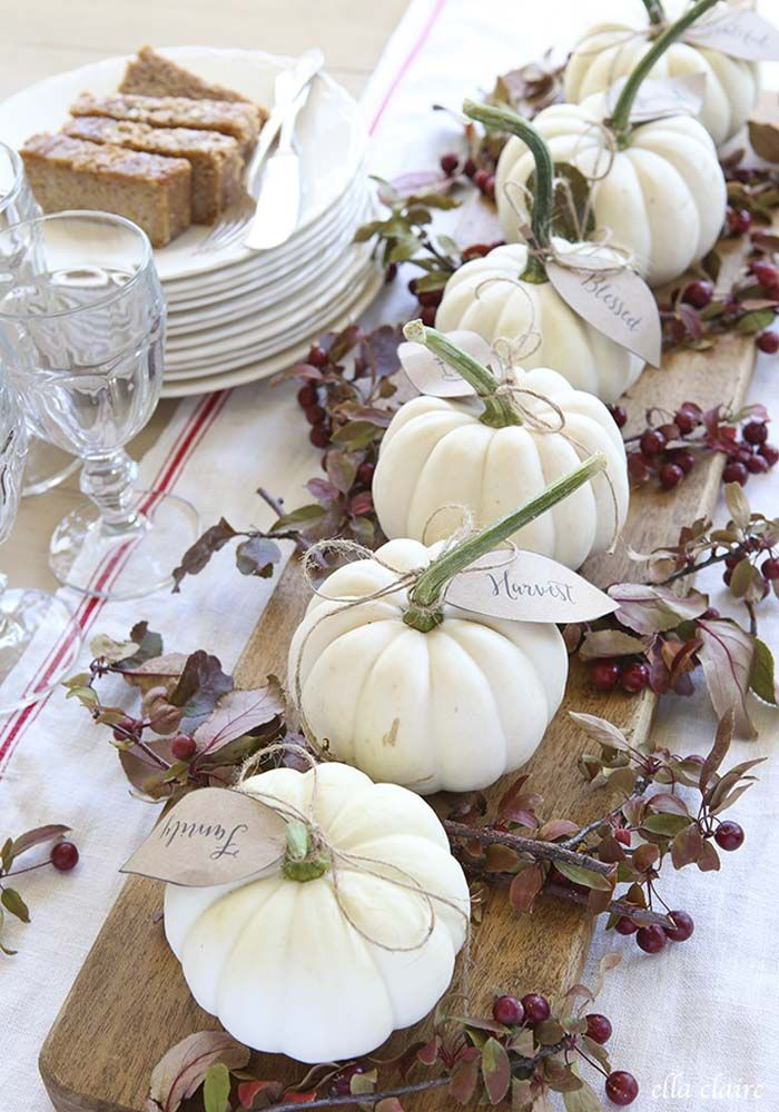 31 Amazing fall decorating ideas using white pumpkins #falldecorideas