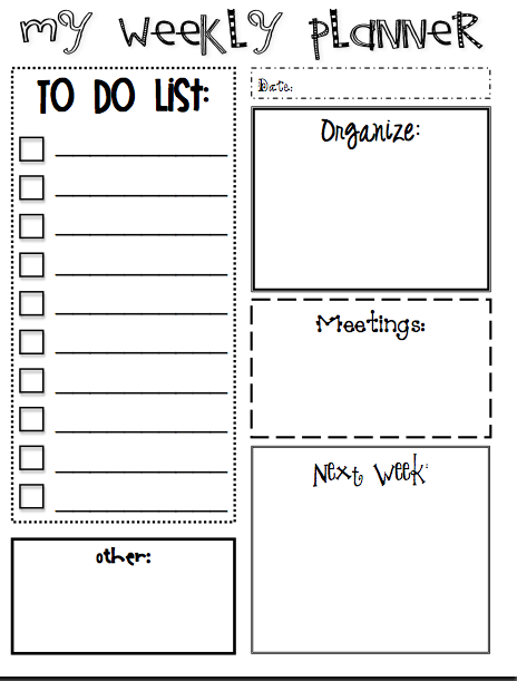 Printables To Add To Your Counselor Planner  School Counselor