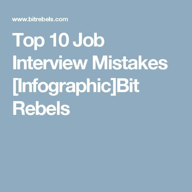 infographic  Top 10 Job Interview Mistakes Infographic Business