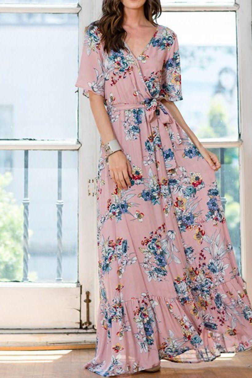 Destiny Floral Crepe Maxi Dress (With images) Maxi dress