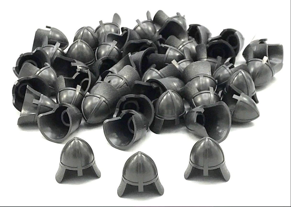 LEGO LOT OF 20 NEW BLACK CASTLE HELMET WITH NECK PROTECTOR PIECES