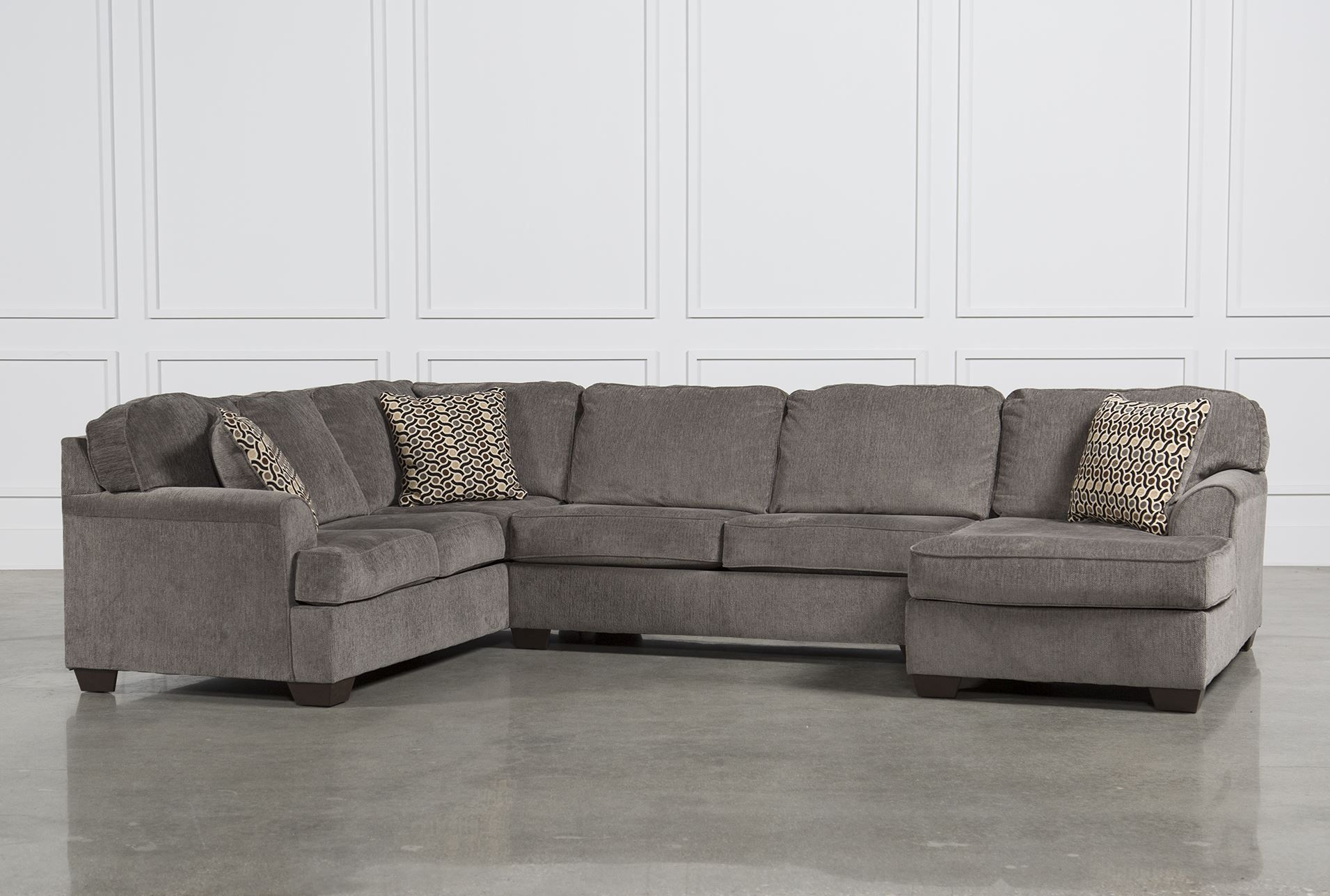 low priced 13559 470d7 Loric Smoke 3 Piece Sectional W/Raf Chaise - SOFA FEATURED ...