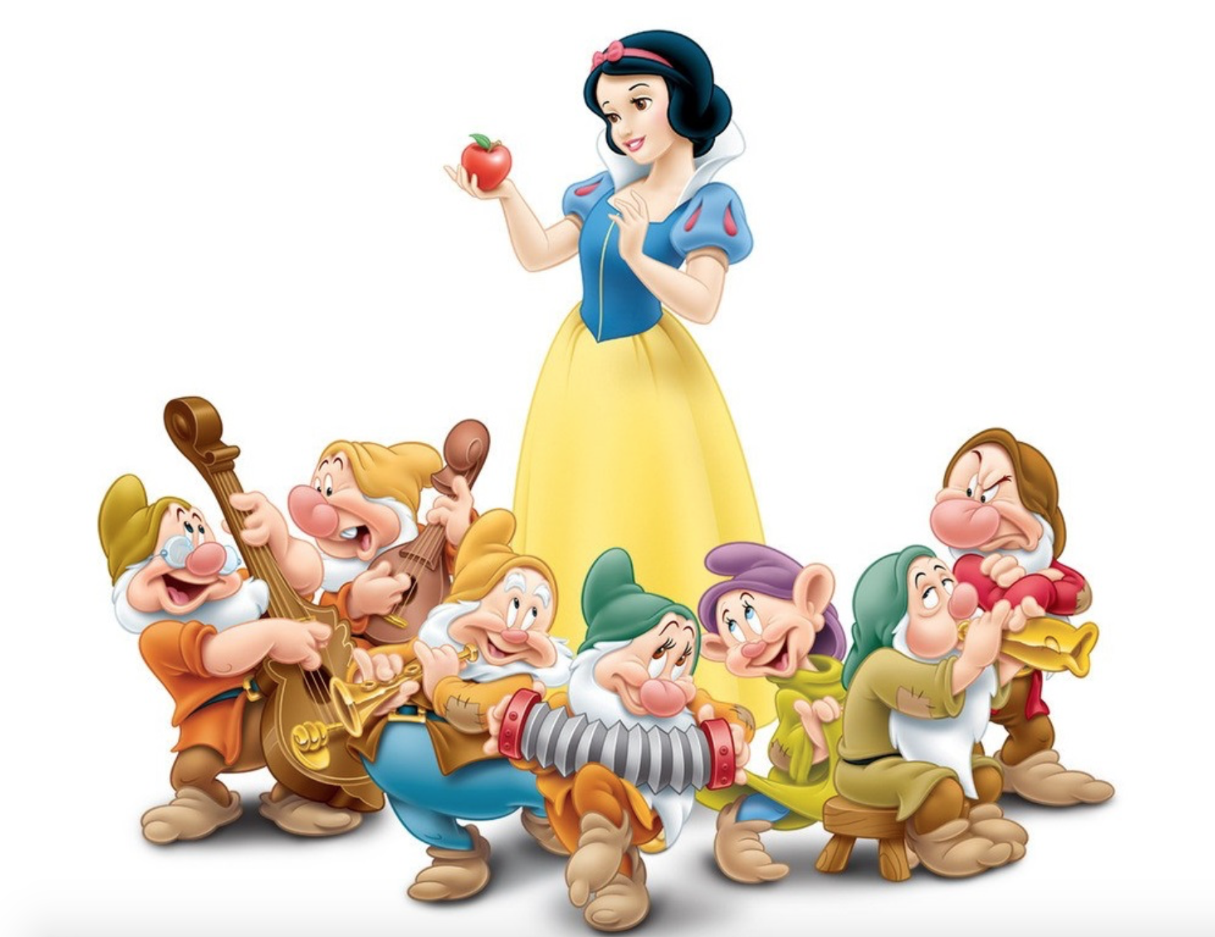 snow white and the seven dwarfs - HD 1742×1344