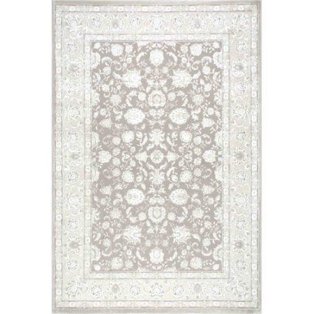 nuLOOM Machine-Made Floral Tonie Area Rug or Runner, White