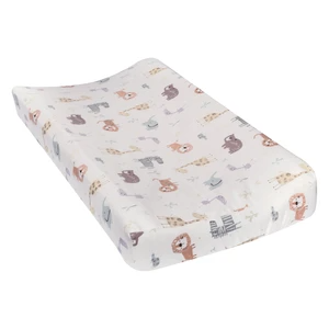 Changing pad to go zoo animals