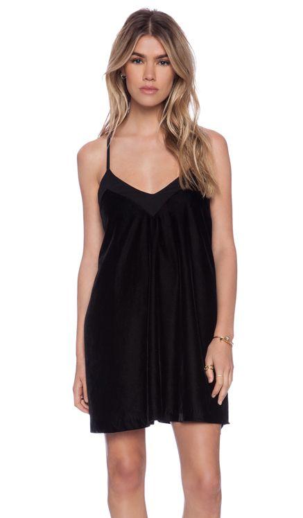 ADDISON Tony T-Strap Swing Dress in Black