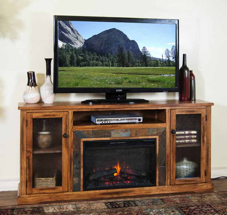 Electric Fireplace tv console with electric fireplace : SD-3488RO-60R 60
