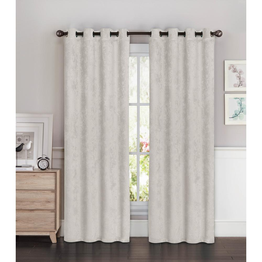 Bella Luna Blackout Faux Suede Extra Wide 96 In L Room Darkening Grommet Curtain Panel Pair In Aqua Set Of 2 Ymc005754 The Home Depot Grommet Curtains Panel Curtains Curtains