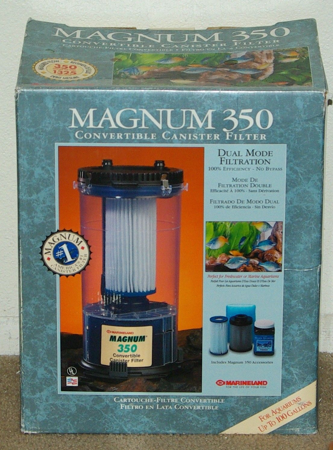 Filters 46310 Marineland Magnum 350 Canister Filter New BUY IT