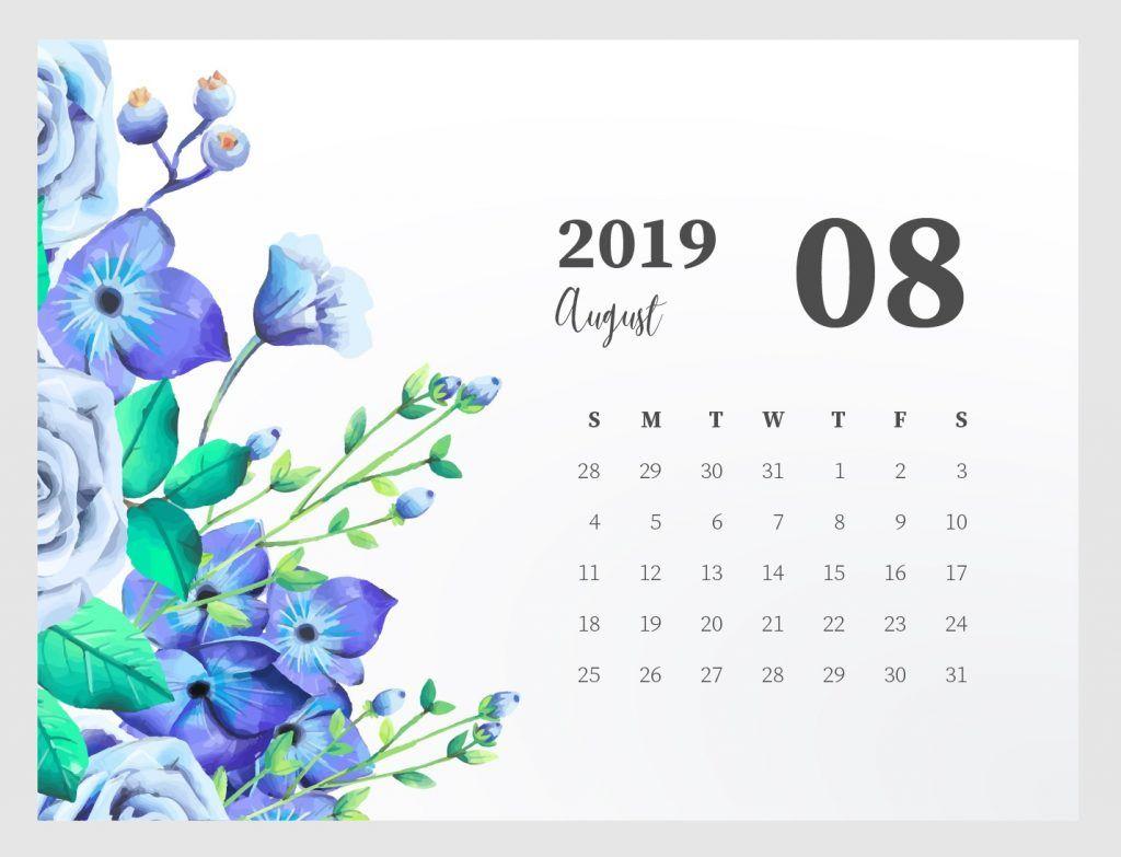 Cute August 2019 Calendar Printable Planners August