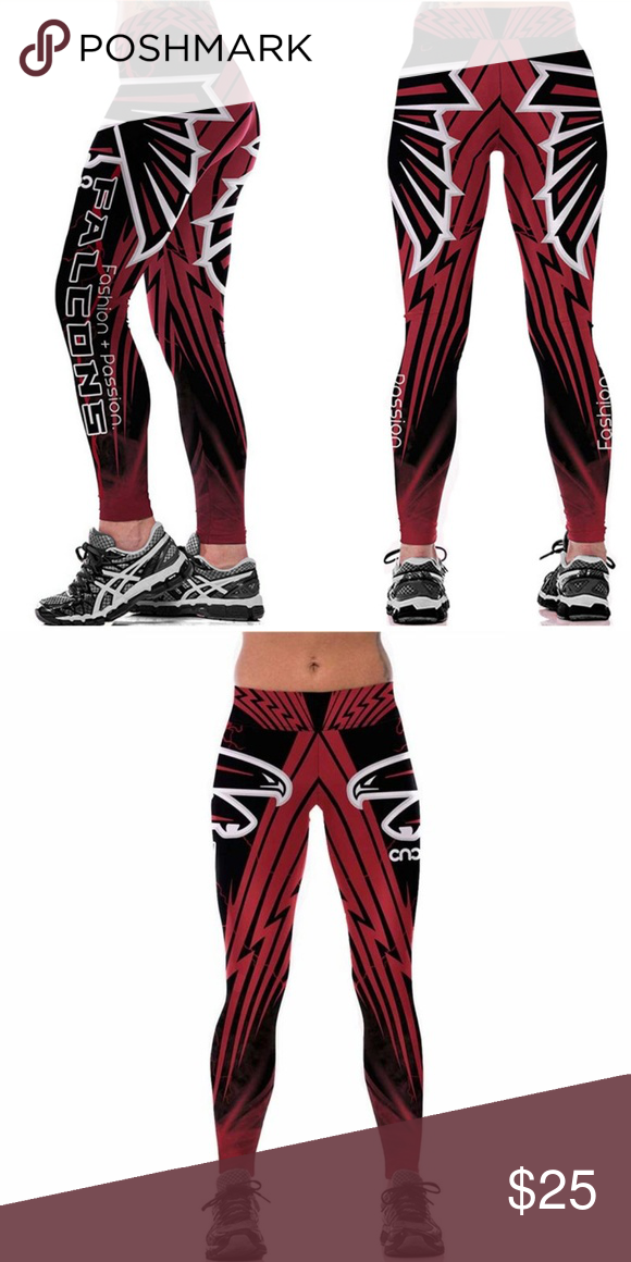 NFL Atlanta Falcons Stretchy Womens Workout pants NEW Length 36 inches One  Size 8 8% Polyester 12% Spandex NFL Pants Leggings 3beb3dd20