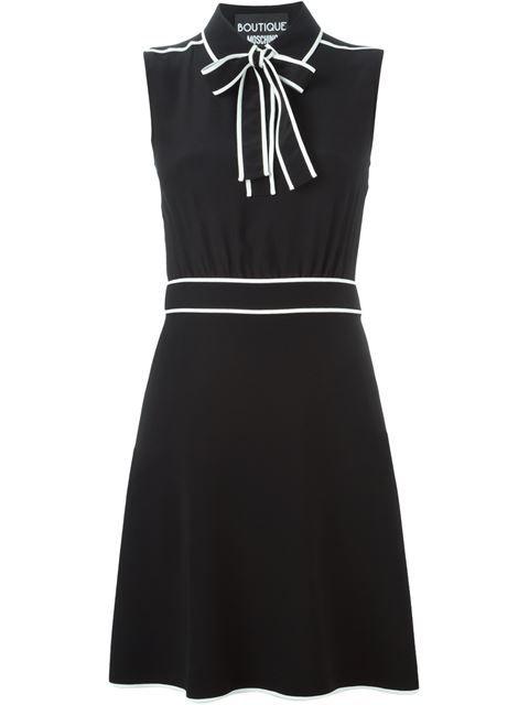 Boutique Moschino Bow Detail Sleeveless Dress Wellens Women Farfetch Com Moschino Dress Designer Outfits Woman Dresses