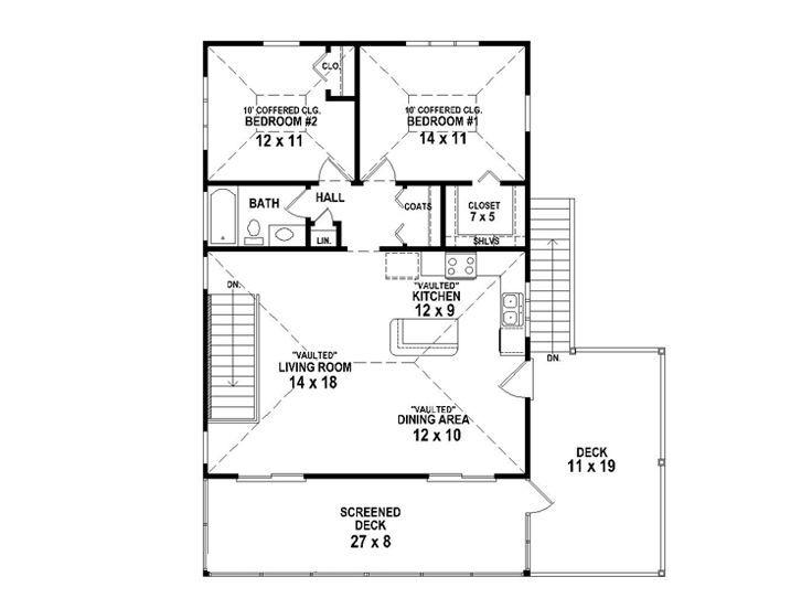 Garage Apartment Floor Plans 2 Bedroom 2nd floor plan - above garage living, follow link to rest of plans