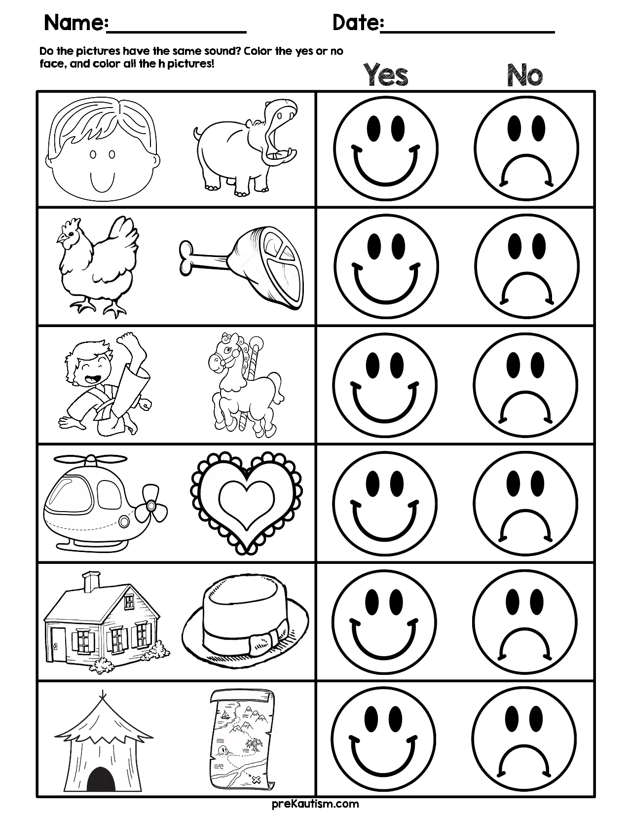 Consonant Sound Match Worksheets Worksheets, Preschool