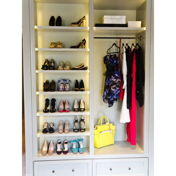Walk In Gray Built Cabinets Shoe