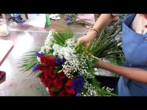 Mazzi Di Fiori Youtube.How To Make Roses Hand Bouquet 21 Roses Florist In Singapore