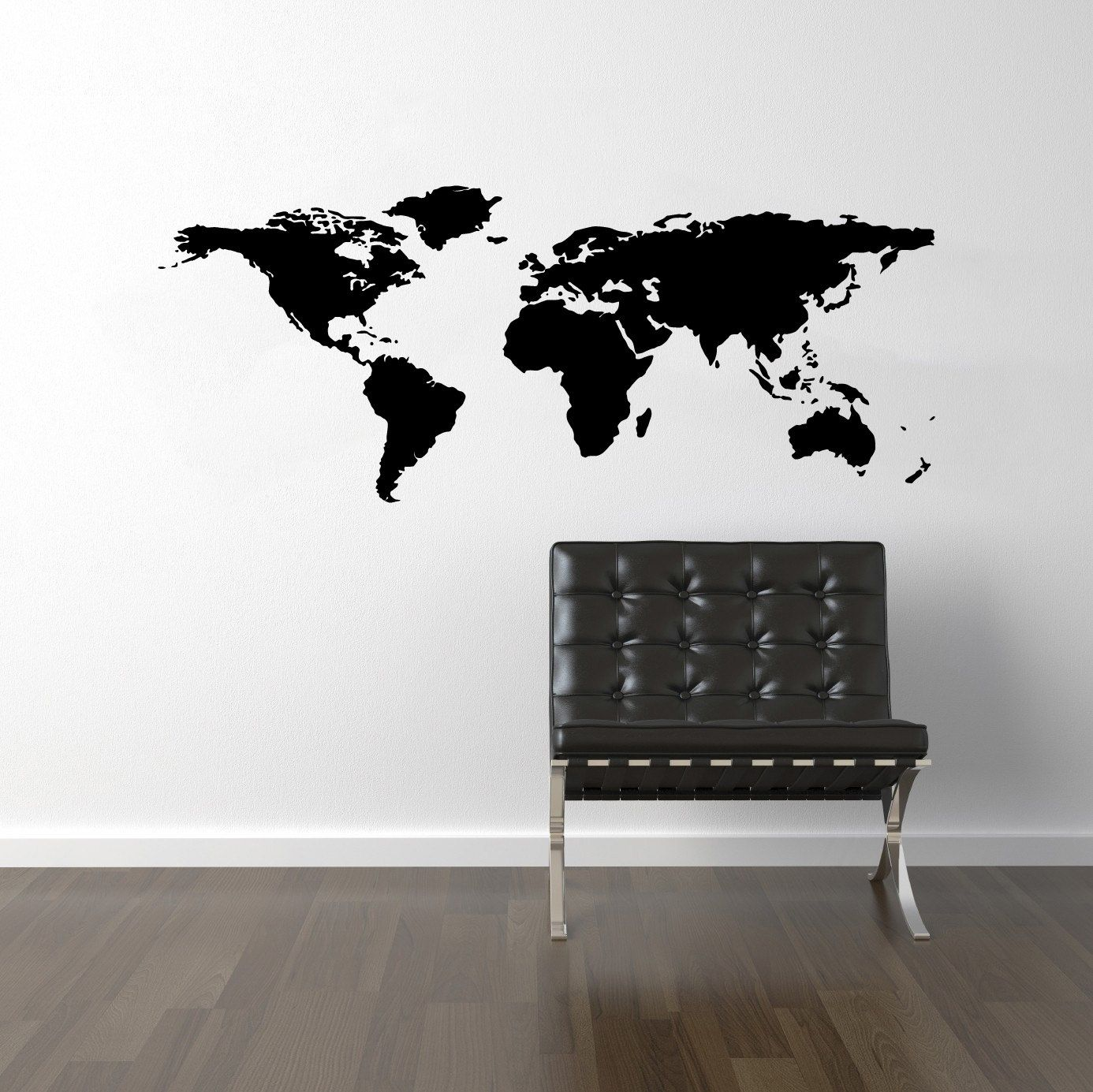 World Map Wall Decal   World Map Decal   World Decal   Travel Bedroom  Interior Office