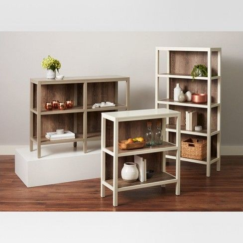 Hadley 36.2 Horizontal Bookcase - Shell (White ...