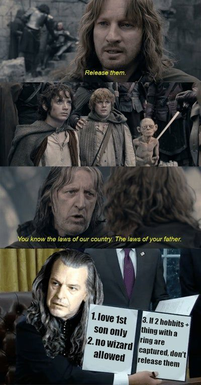 JUST 3 RULES Faramir, what are you doing