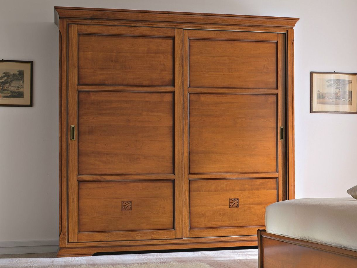 Cherry Wood Wardrobe With Sliding Doors Bohemia Collection By Dall