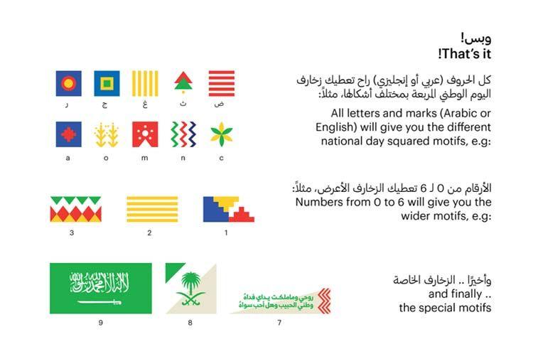 تحميل زخارف اليوم الوطني السعودي مجانا National Day Day Letters