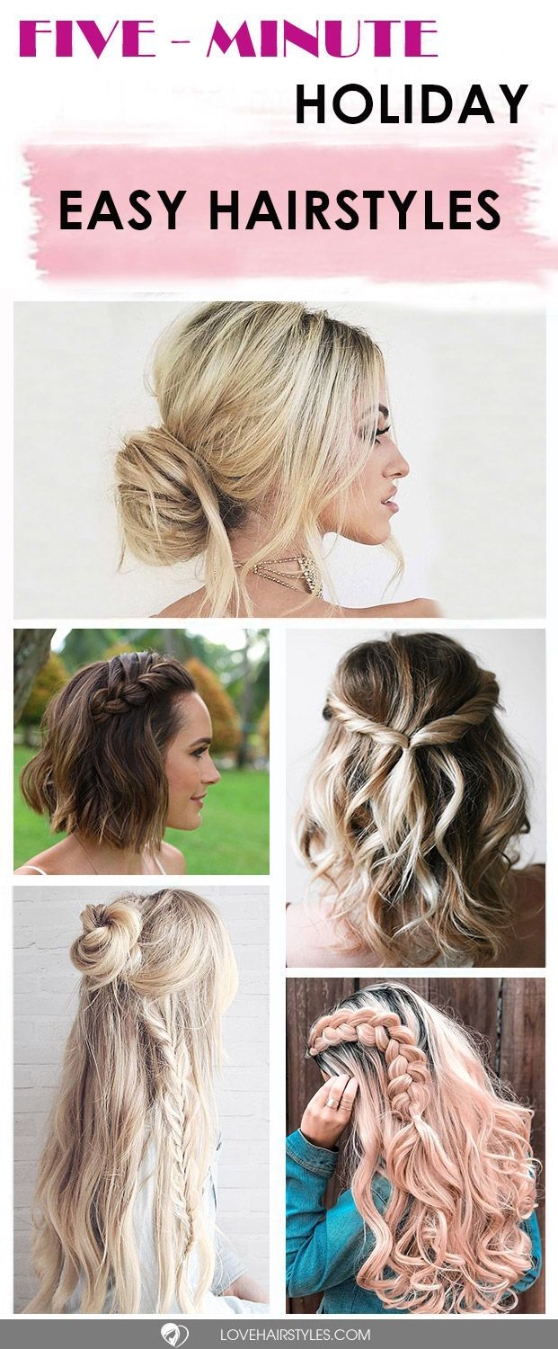 fiveminute gorgeous and easy hairstyles hair pinterest