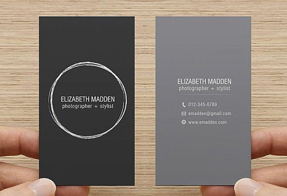 Business card printable premade template double sided calling card business card printable premade template double sided calling card digital download simple minimal flashek Gallery