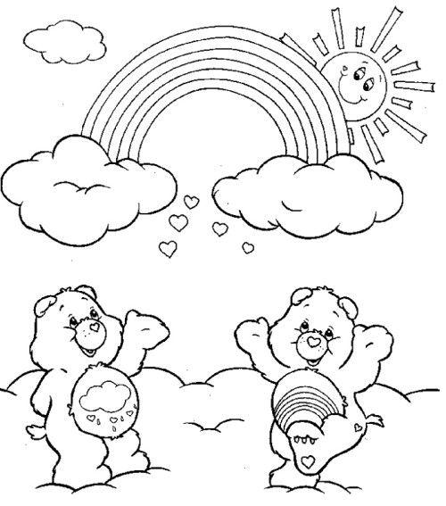 Rainbow Care Bears Coloring Pages Libros Para Pintar Dibujos Para Colorear Dibujos