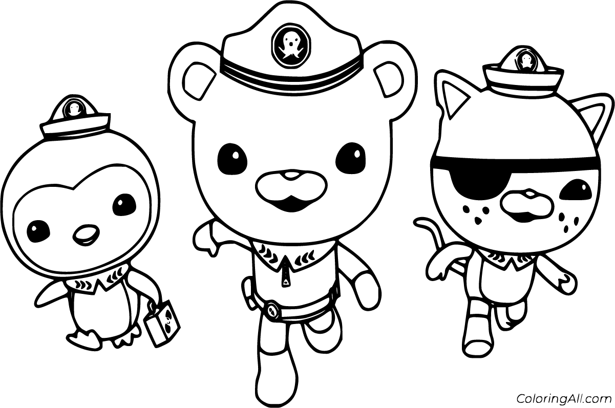 10 free printable Octonauts coloring pages in vector format, easy ...