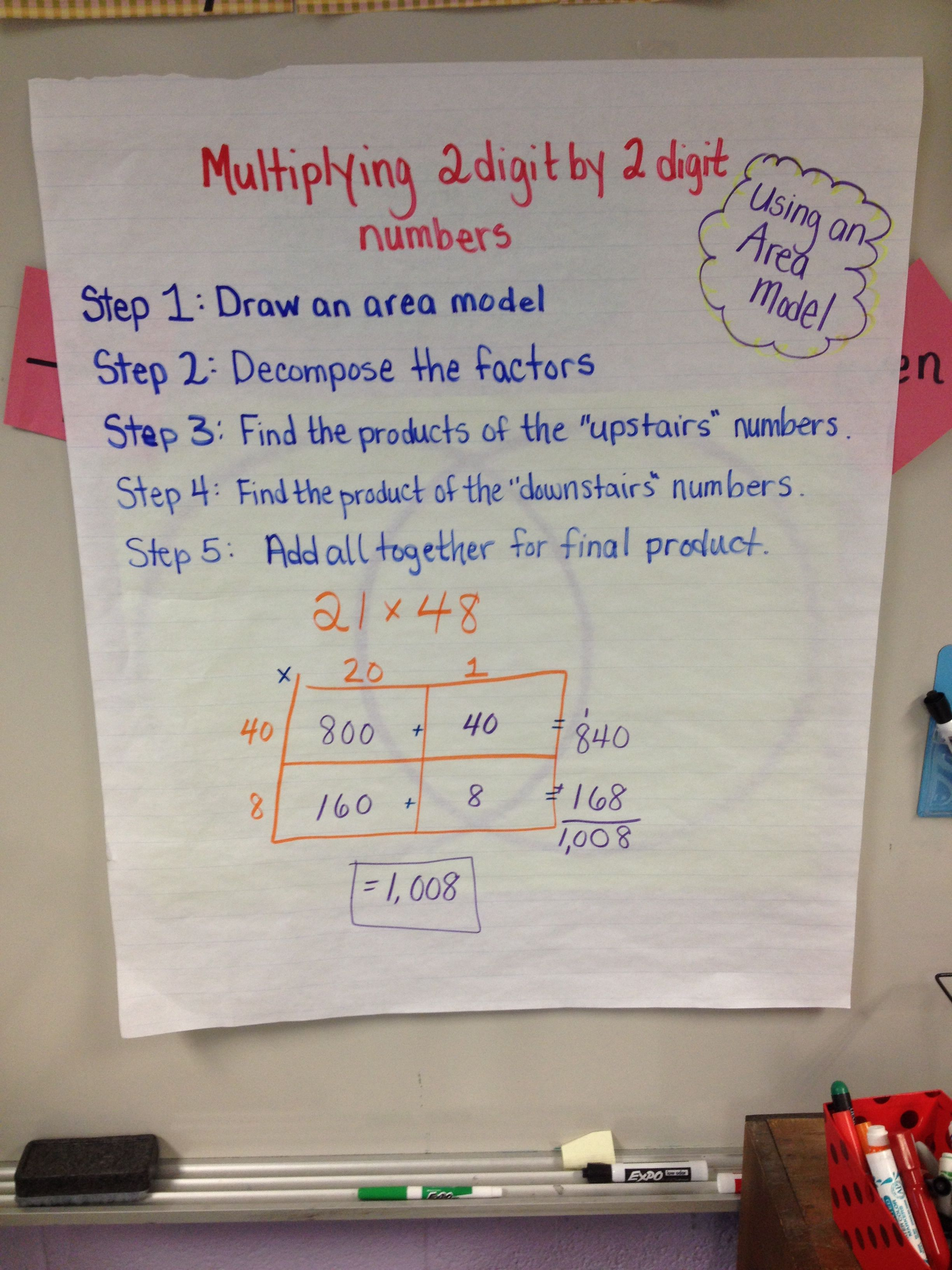 Area Models For Multiplication
