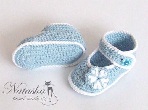 Patron para tejer zapatitos para bebes a crochet | botitas y ...
