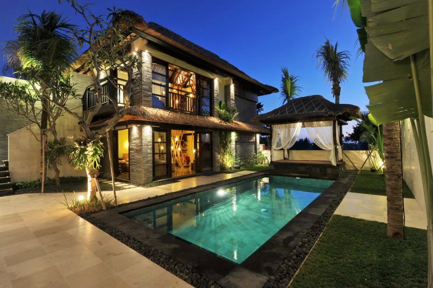 50 In Ground Swimming Pool Lighting Ideas And Colors Swimming Pool House Swimming Pool Lights House Designs Exterior