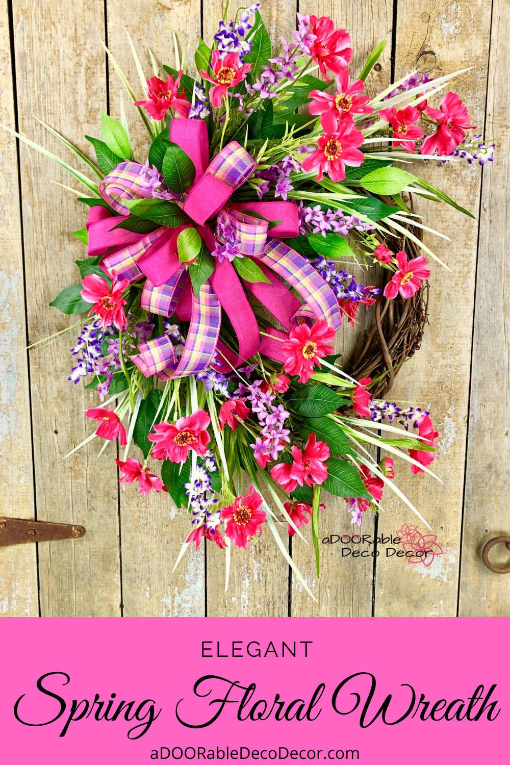 Photo of Spring floral wreath