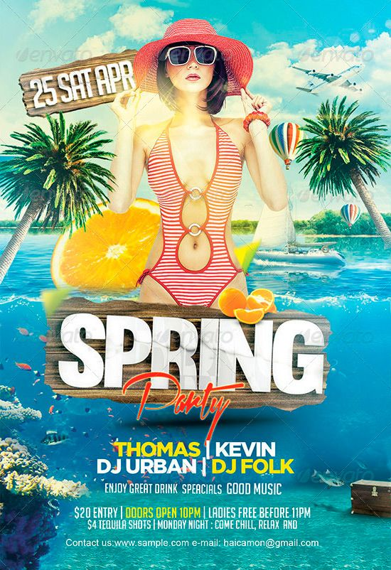 Spring Party Flyer Template Httpffflyerspring Party