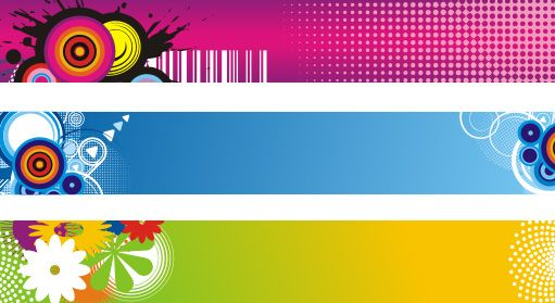 banners attack 2 colorful vector graphic by dryicons com