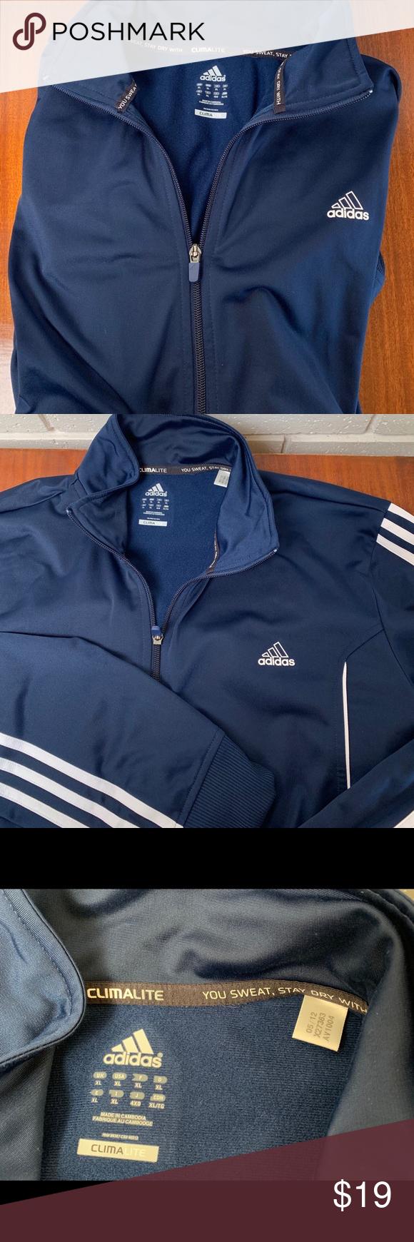 adidas Jackets & Coats | Mens Climalite Sky Blue Jacket