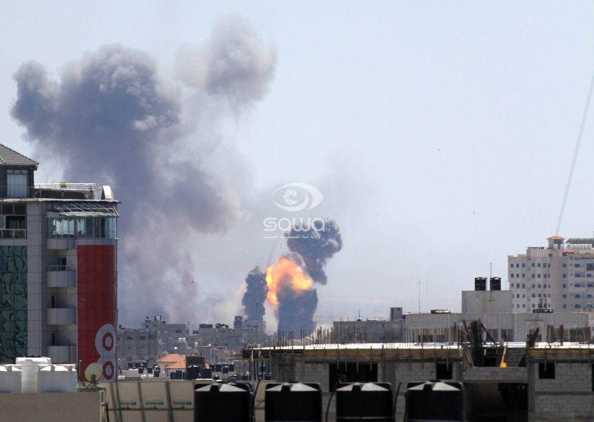 عاجل من غزة قصف إسرائيلي على قطاع غزة الان