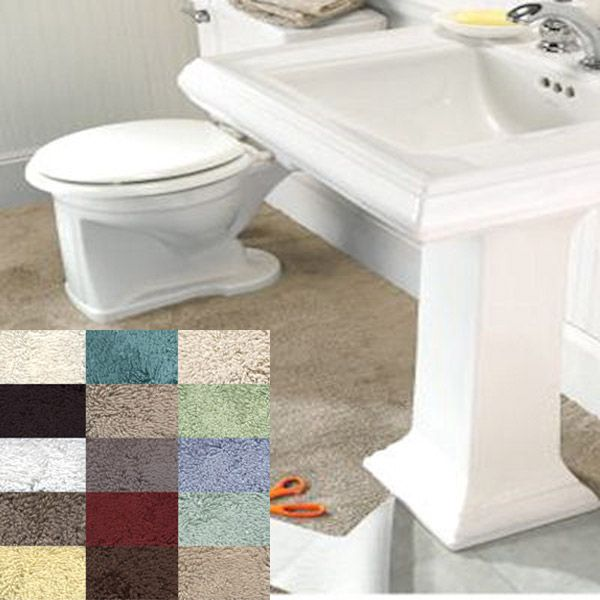 Imperial 5 X 6 Solid Color Wall To Bathroom Rug By Mohawk Mills