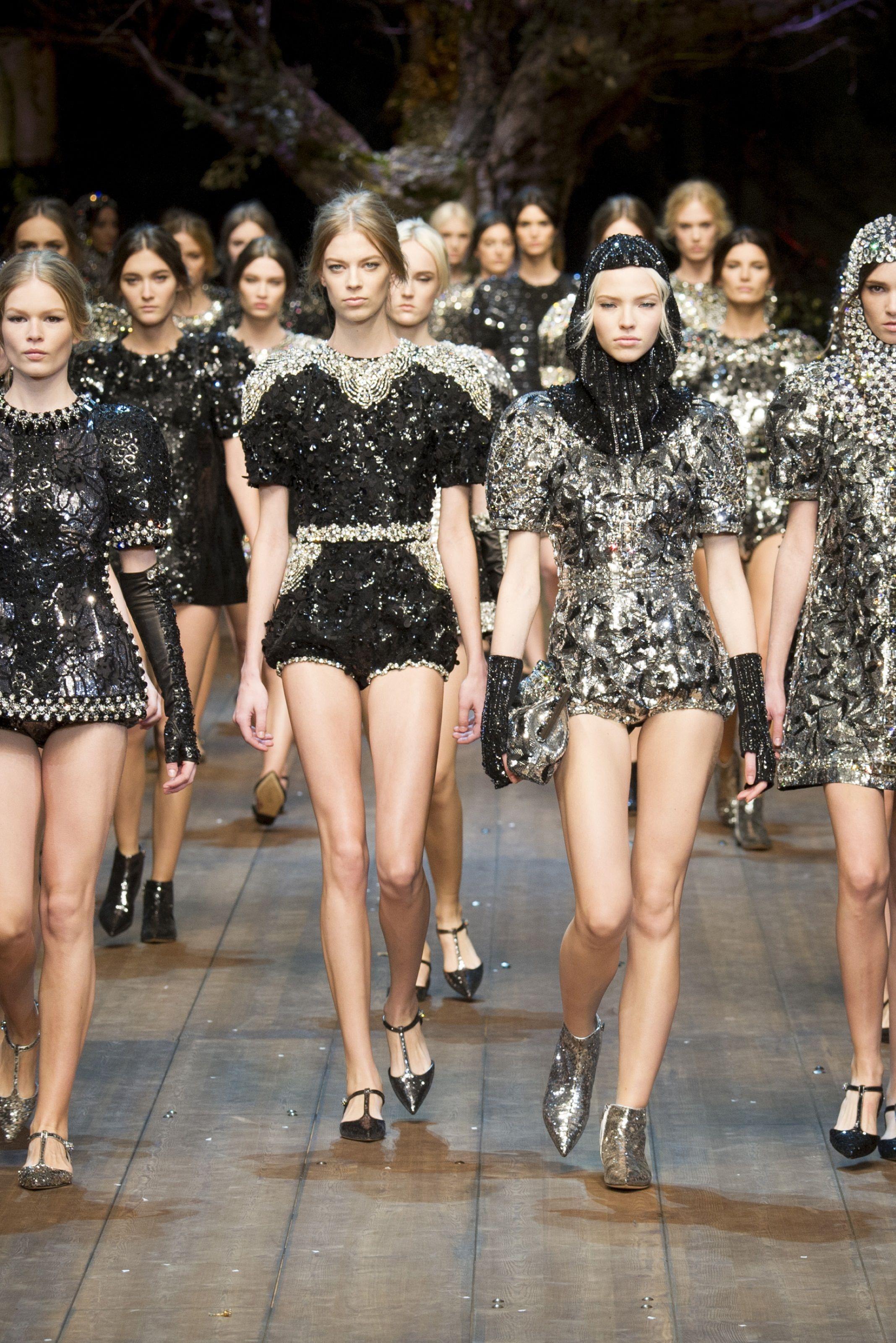 Sfilate Dolce   Gabbana Collezioni Autunno Inverno 2014-15 - Milano ... b5427cf9471