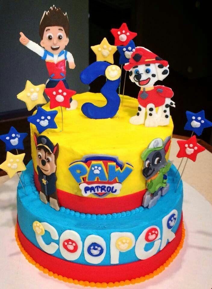 Paw Patrol 2 Layer Cake Idea With Images Paw Patrol Birthday